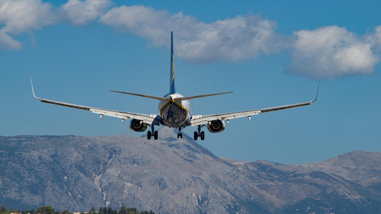 Met het vliegtuig naar Griekenland